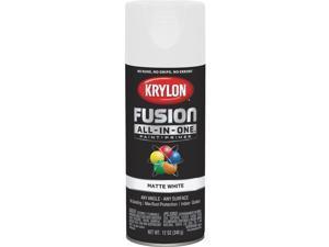 Krylon Fusion All-In-One Matte Spray Paint & Primer, White K02764007