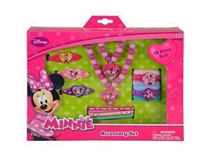 Disney Minnie Bowtique 15 Piece Accessory Box Set with Jewelry