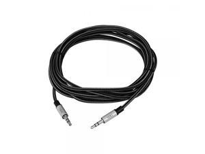 SIIG CB-AU0B12-S1 9.84 ft. Woven Fab Stereo Aux Cable Male to Male