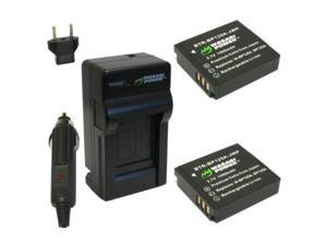 Wasabi Power Battery (2-Pack) and Charger for Samsung BP125A, IA-BP125A and Samsung HMX-M20, HMX-Q10, HMX-Q11, HMX-Q20, HMX-Q100, HMX-Q130, HMX-QF20, HMX-QF30, HMX-T10