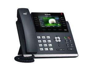 Yealink SIP-T46S Ultra-Elegant Gigabit IP Phone, 10 Line Keys Can Be Programmed with Up to 27 Features on 3 Page View