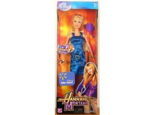 Disney Hannah Montana and Friends 12 Inch Stylin' Fashion Doll - Hannah in Pink Dress with Bracelet, Microphone, A Pair of High Heel Shoes and Earrings Plus Hairbrush