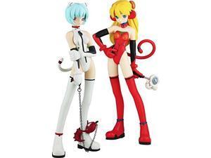 Kaiyodo Neon Genesis Evangelion: Rei Ayanami & Sohryu Langley PVC Figure (Grimlock Mix Version)