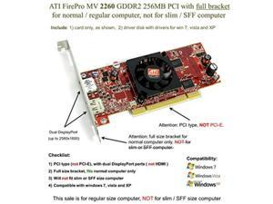 epic it service  ati firepro mv 2260 gddr2 256mb pci full size bracket