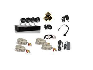 qsee 4 channel 720p hd security system with 1tb hard drive, 4 720p bullet cameras, and 80' night vision