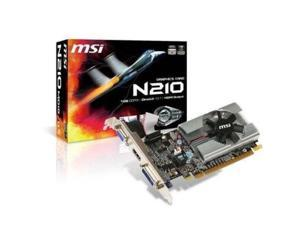 msi n210md1g/d3 geforce 210 1gb 64bit ddr3 pci express 2.0 x16 hdcp ready low profile ready video card