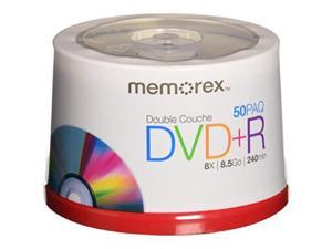 memorex 8.5 gb 8 x double layer dvd+r  50 pack spindle