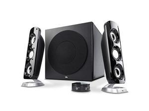 cyber acoustics most thunderous 2.1 subwoofer speaker system with 92w of power  perfect for gaming, movies, music, or any multimedia use ca3908