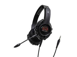 GamesterGear Stereo PC PS4 Gaming Headset, Online Chat, Headphone with Detachable Micophone, Black OG-AUD63084