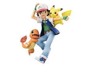 Megahouse Pokemon: Ash Ketchum & Pikachu & Charmander GEM PVC Figure