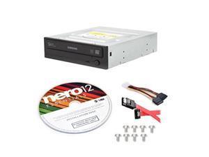 samsung electronics sh224fb/bsbekit 24x sata half height dvdwriter internal optical drive + nero 12 essentials + sata cable kit