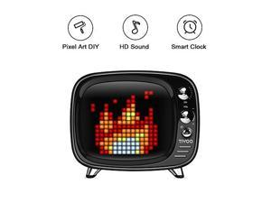 pixel art bluetooth speaker  tivoo retro 16x16 pixel art diy box. full rgb programmable led by app control, support android & ios. bluetooth speaker support tf card & aux. great fun gift & deco.