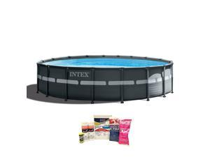 """Intex 18'x52"""" Ultra XTRA Frame Above Ground Pool w/ Pump & Chemical Cleaning Kit"""