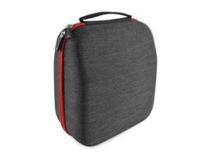 geekria headphones case compatible with sennheiser hd800, hd598, akg k701, q701, beyerdynamic dt880, dt990 and more/hard shell large carrying case/headset travel bag black fabric