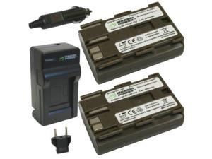wasabi power battery 2pack and charger for canon bp511, bp511a and canon eos 5d, 10d, 20d, 20da, 30d, 40d, 50d, 300d, d30, d60, rebel, powershot g1, g2, g3, g5, g6, pro 1, pro 90, pro 90 is, fv10, fv