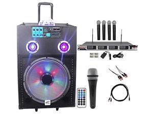 "NYC Acoustics Powered 15"" Karaoke Machine/System 4 ipad/iphone/Android/Laptop/TV"
