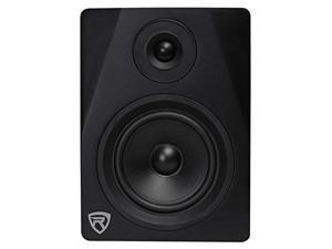 "rockville dpm5b 5.25"" 2way 150w black active/powered studio monitor speaker"