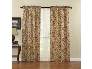 waverly 10985042x084an imperial dress 42inch by 84inch single window panel, antique