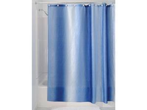 "idesign ombre fabric shower curtain for master, guest, kids', college dorm bathroom, 72"" x 72""  surf blue"