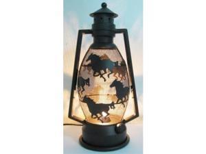 iwgac home decorative holiday season christmas collectible metal horse lantern night light