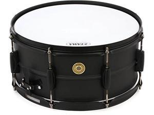 tama steel snare drum  6.5 inches x 14 inches  black black