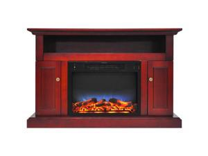 """Cambridge 47"""" Width Fireplace Mantel with LED Electric Insert, Cherry"""