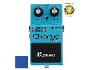 boss ce2w chorus waza craft special edition guitar effect pedal with 1 year free extended warranty