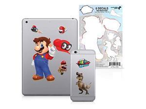controller gear super mario odyssey  character tech decal pack  hats off  nintendo wii; gamecube