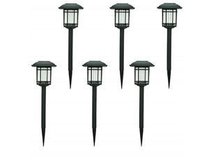 hampton bay solar black outdoor integrated led 3000k 6lumens landscape pathway light 6pack