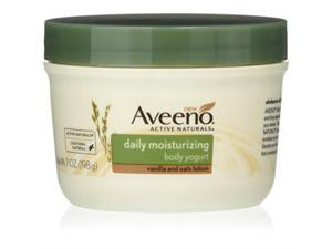 aveeno active naturals daily moisturizing body yogurt moisturizer, vanilla and oats, 7oz,