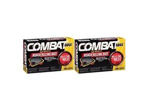 combat max 12 month roach killing bait, small roach bait station, 18 count 2 pack