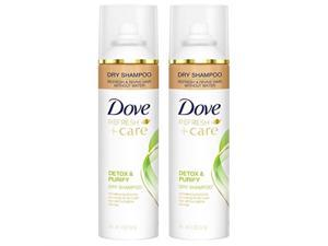 dove refresh + care dry shampoo  detox & purify  net wt. 5 oz 141 g per can  pack of 2 cans