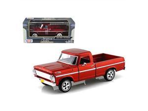 unbranded 1969 ford f100 pickup truck burgundy 1/24 diecast model car by motormax 79315