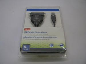Staples 18807 USB Parallel Printer Adapter *New Sealed*