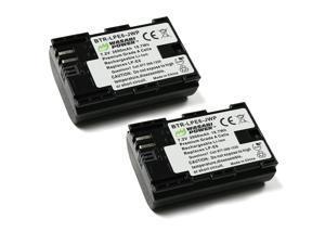 Wasabi Power LP-E6, LP-E6N (2-Pack) Battery for Canon EOS 5D Mark II, Mark III, Mark IV, 5DS, 5DS R, 6D, 60D, 60Da, 6D Mark II, 7D, 7D Mark II, 70D, 80D, R, XC10, XC15