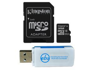 SDHC Class 4 Certified 16 Gigabyte Professional Kingston MicroSDHC 16GB Card for Motorola Droid 2 Global Phone Phone with custom formatting and Standard SD Adapter.