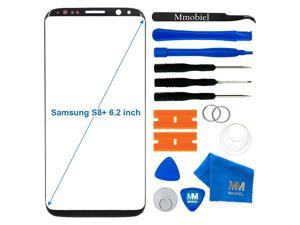 MMOBIEL Front Glass Replacement Compatible with Samsung Galaxy S8 Plus G955 6.2 Inch (Black) Display incl Tool Kit