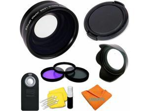 Nwv Direct Microfiber Cleaning Cloth. 3 Piece Lens Filter Kit Made by Optics Multi-Threaded Nikon D700 High Grade Multi-Coated 58mm