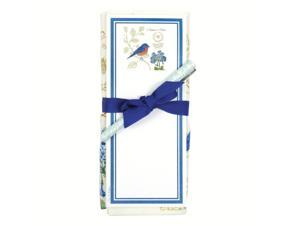 Alices Cottage ACU26447 Bluebird NN Flour Sack Towel and Magnetic Note Pad Set
