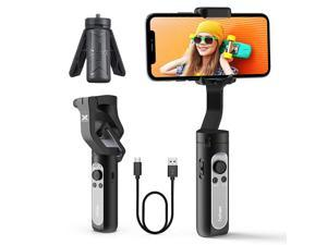 3-Axis Gimbal Stabilizer for iPhone, Foldable Phone Gimbal w/ 3D Auto Inception Dolly Zoom Face Tracking Time-lapse, Compatible for iPhone 11 Pro Max/11/Xs Max/Samsung - Hohem iSteady X(0.59 Lbs Only)