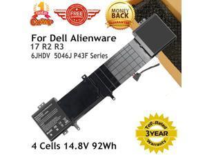 92Wh 14.8V 6JHDV Battery for Dell Alienware 17 R2 R3 Laptop YKWXX 5046J