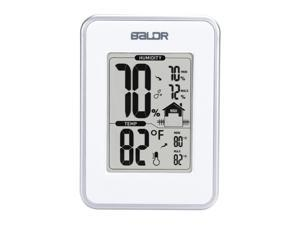 BALDR Thermo-Hygrometer Weather Station, 3X1.5X4.17, White