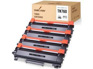 SAILNER Compatible Toner Cartridge Replacement for Brother TN760 TN 760 TN730 use with HL-L2350DW HL-L2395DW MFC-L2710DW DCP-L2550DW HL-2370DW MFC-L2750DW HL-L2390DW (Black, 4 Pack)