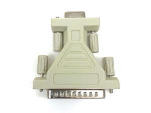 Micro Connectors Serial Adapter DB9 Female to DB25 Male (G01-105M)