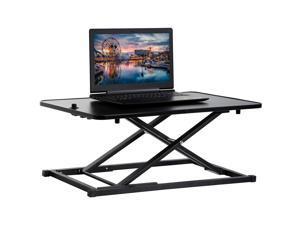 """Standing Desk Converter Computer Workstation Standard Office Height Adjustable Laptop Stand Up Desktop Gas Lift Sit-Stand Large Working Area Platform Riser, 29"""""""