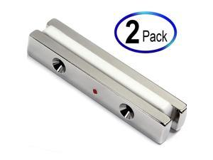 """CMS Magnetics Strong Neodymium Bar Magnets N45 2 Pieces 3 x 1/2 x 1/4"""" w/ 2#6 Counter Sunk Holes"""