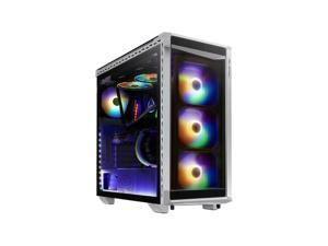 XPG Battle Cruiser Mid-Tower Glass Panel PC Case, White #BATTLECRUISER-WHCWW