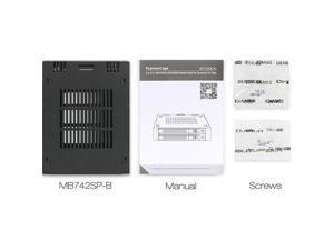 Icy Dock 219867 Rd Mb742sp-b Expresscage 2x2.5sas Sata Hdd Ssd F External 3.5bay