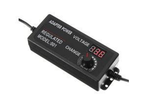 3V to 24V Adjustable 60W Universal Power Supply Adapter Stepless Voltage Adjust