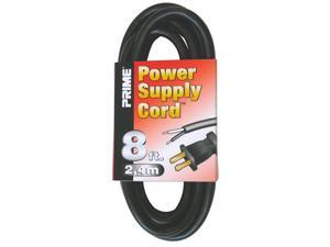 Prime Ps005608 8 16/2 Sjt Black Replacement Power Supply Cord
